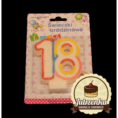 Świeczki urodzinowe 18 lat