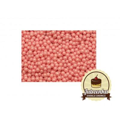 posypka na tort groszek perłowy różowy