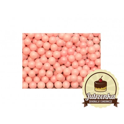 posypka na tort groszek perłowy średnia różowa