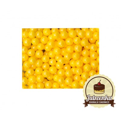 posypka na tort groszek perłowy żółty