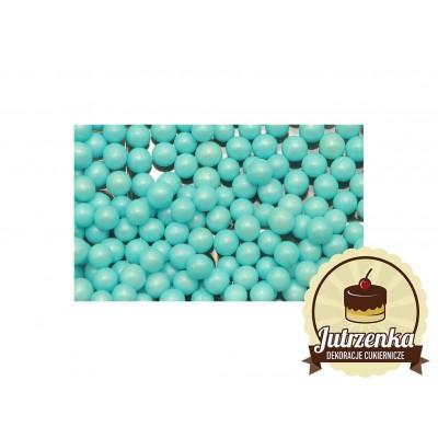 posypka na tort groszek perłowy niebieski 1