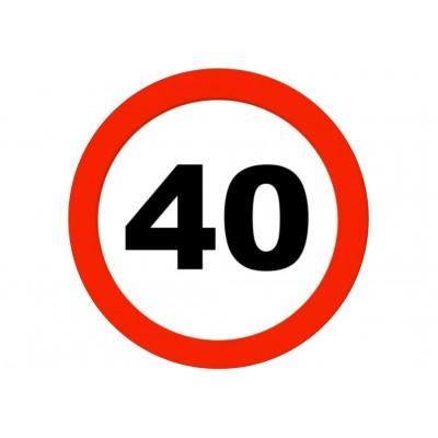 Nadruk jadalny urodzinowy znak 40