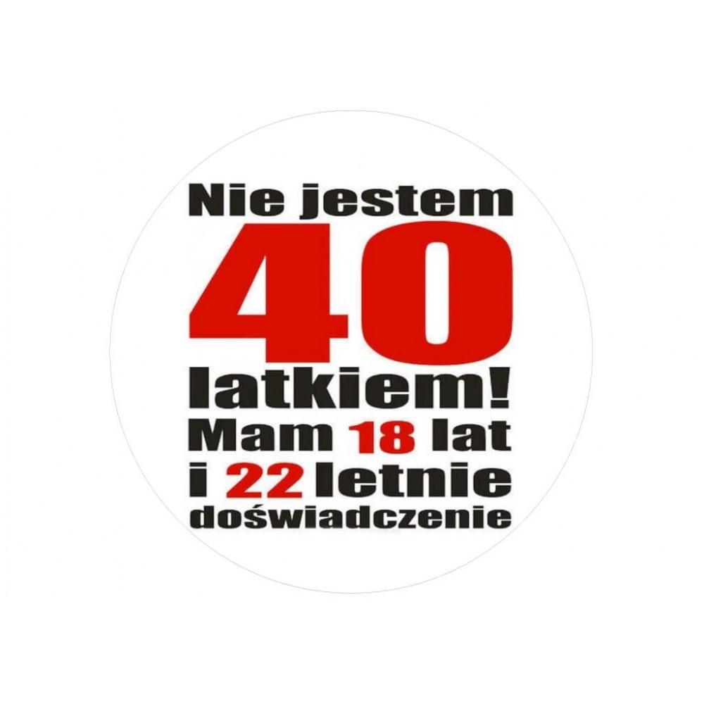 Nadruk jadalny urodzinowy 40 latek