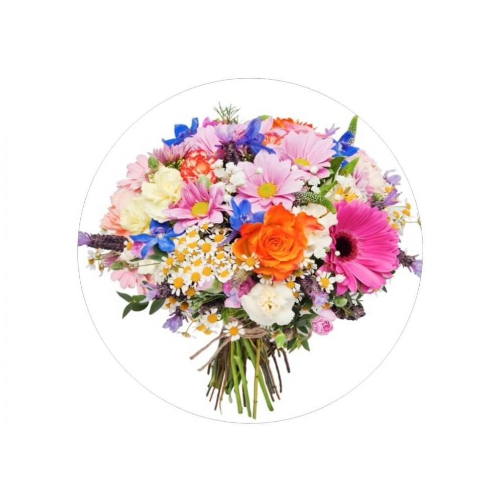 nadruk jadalny na tort kwiaty