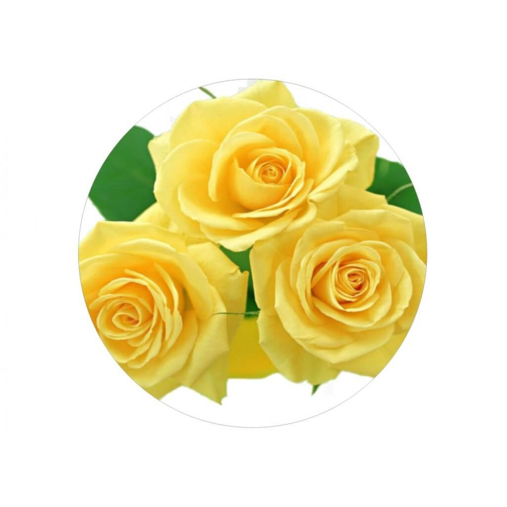 nadruk jadalny na tort żółte róże