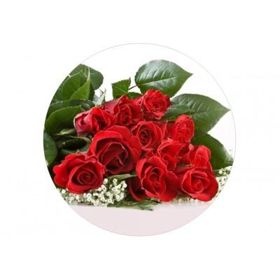 nadruk jadalny na tort róże czerwone