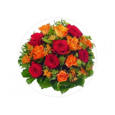 nadruk jadalny na tort róże