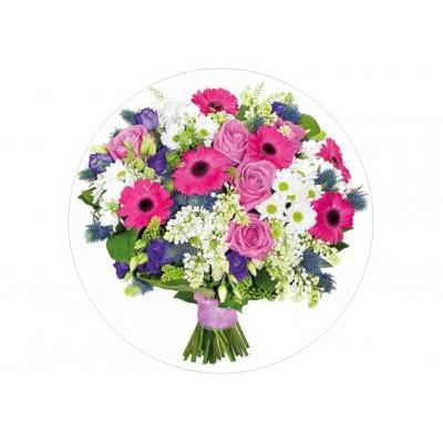 Nadruk jadalny kwiaty 10