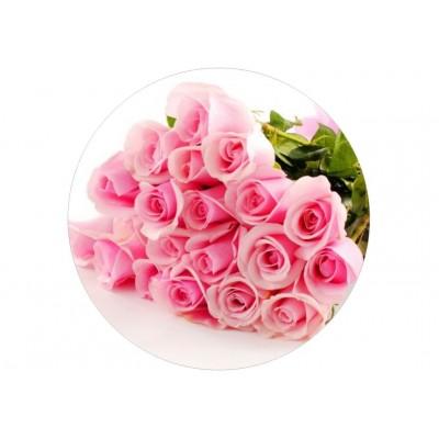 nadruk jadalny na tort róże różowe