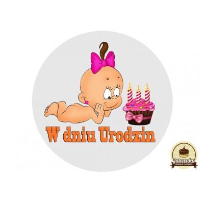Nadruk jadalny Bebe w dniu 3 urodzin