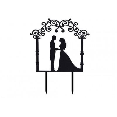 topper na tort ślub para młoda
