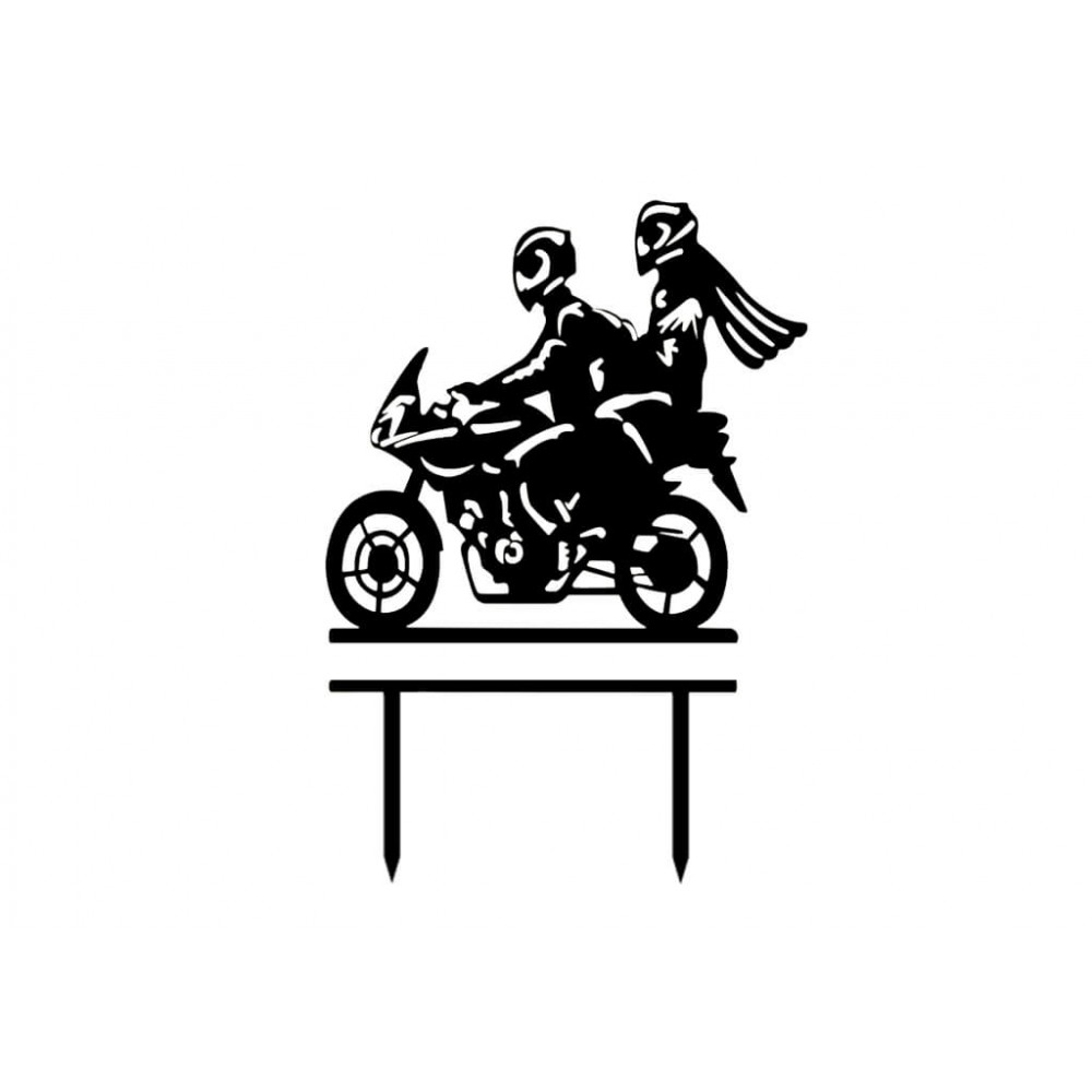 topper na tort motocykl
