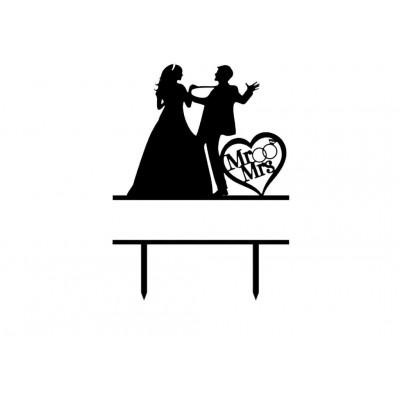 Topper na tort wesele