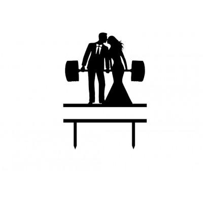 Topper na tort wesele siłacze