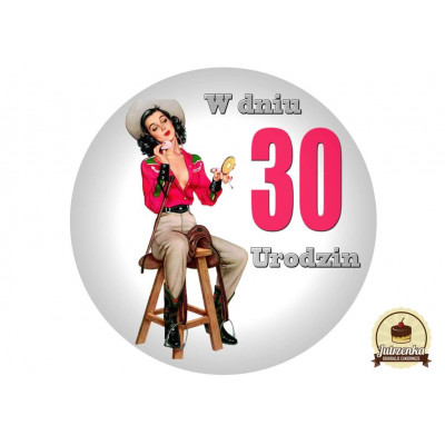 Nadruk jadalny Pin Up B 30