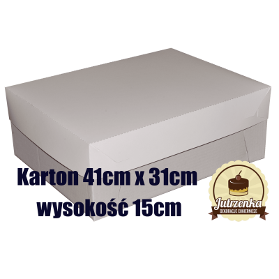 Karton 41cm x 31cm wysokość 15cm