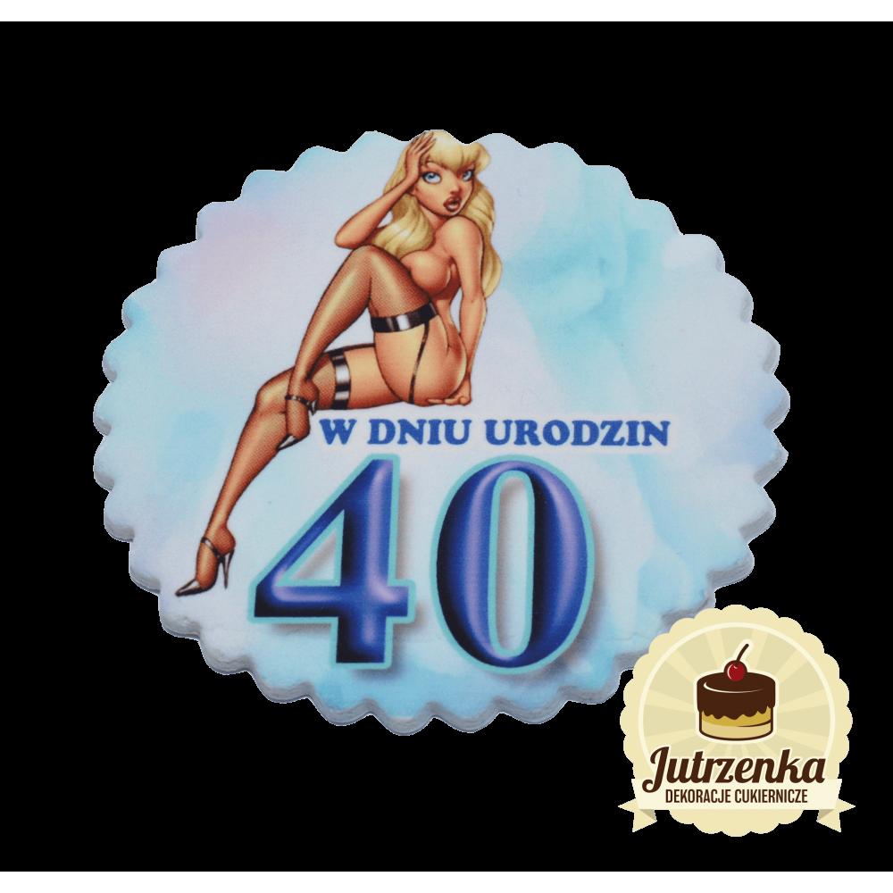 tabliczka cukrowa dla pana w dniu 40 urodzin