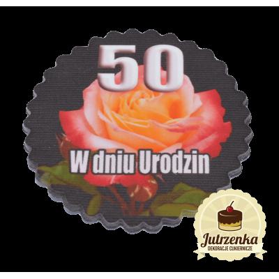 tabliczka cukrowa w dniu 50 urodzin