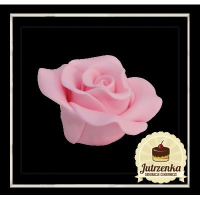 różowa cukrowa róża
