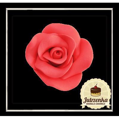 czerwona róża cukrowa