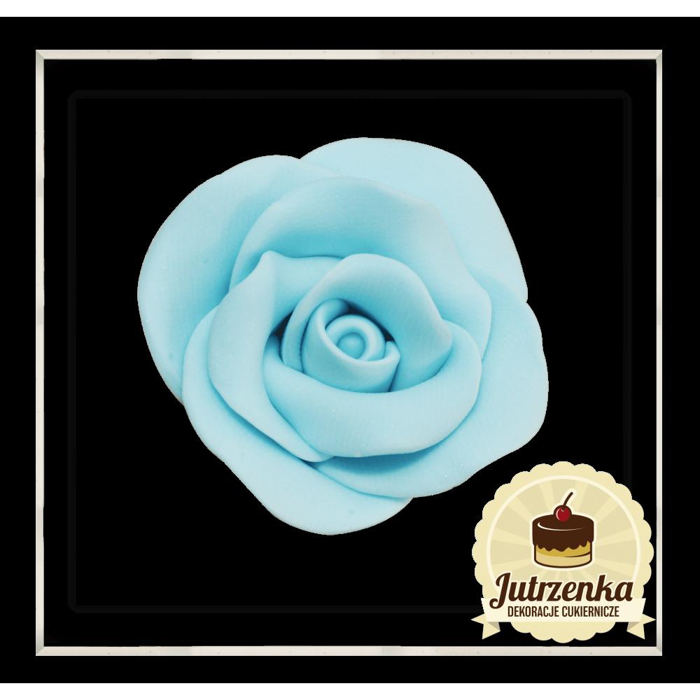 niebieska róża cukrowa
