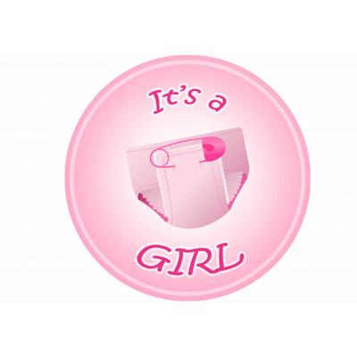 Nadruk na waflu A4 BABY SHOWER - 8 girl