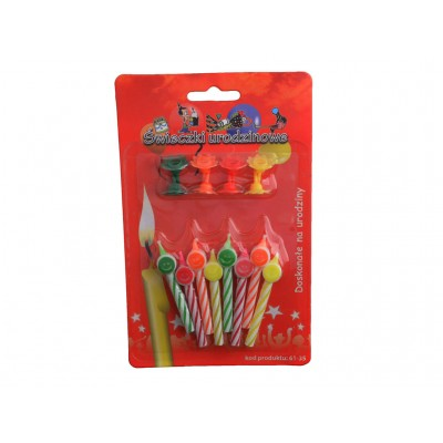 Świeczki urodzinowe uśmiechy na podstawce
