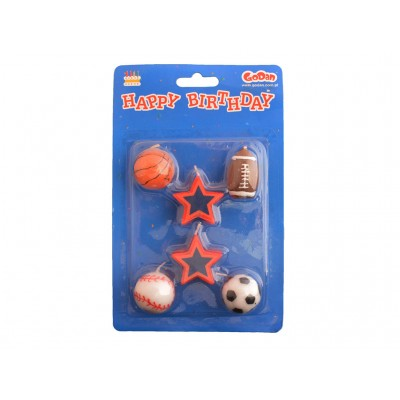 Świeczki urodzinowe piłki i gwiazdki
