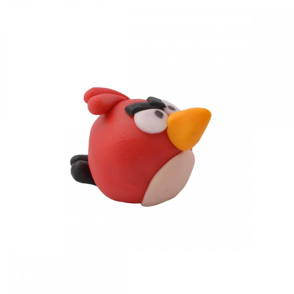 Figurka z masy cukrowej Angry Birds czerwony