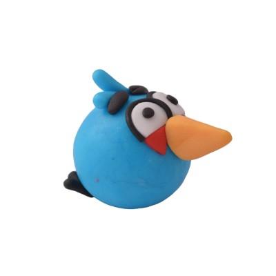 Figurka z masy cukrowej Angry Birds niebieski