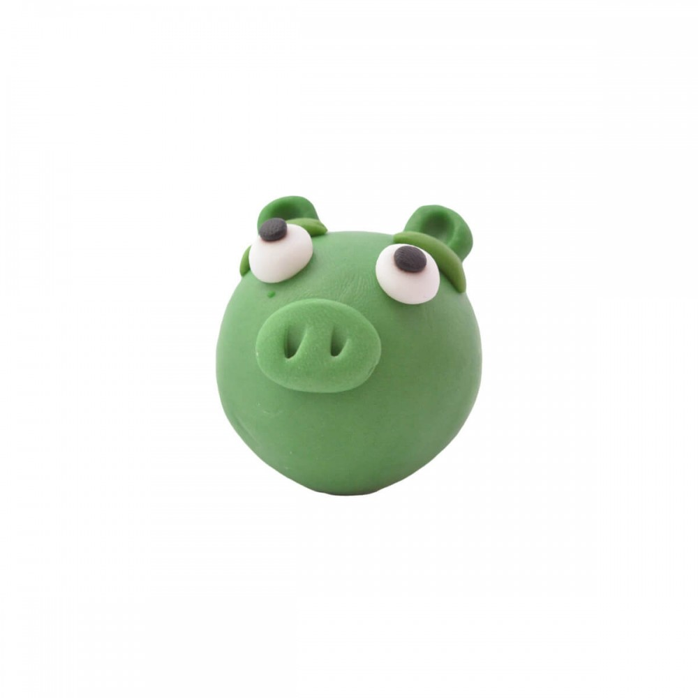 Figurka z masy cukrowej Angry Birds zielony