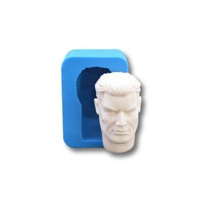Głowa Męska 2 z Szyją - Forma Silikonowa