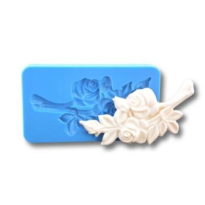 Gałązka z różami - Forma Silikonowa