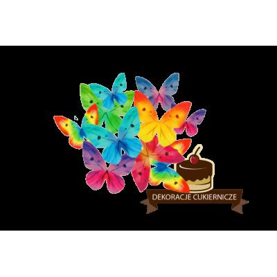 dekoracje waflowe kwiaty motylki mix