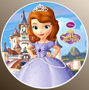 nadruki jadalne na tort księżniczka zosia