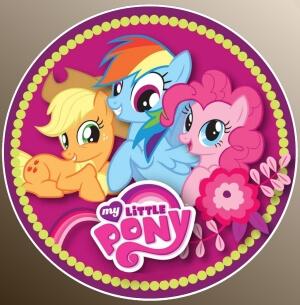 nadruki jadalne na tort kucyki pony