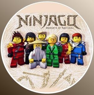 nadruki jadalne na tort ninja-go